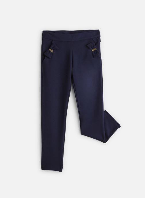 Vêtements Lili Gaufrette Pantalon Milano Bleu Marine à noeuds Bleu vue détail/paire