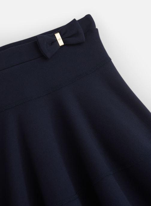 Vêtements Lili Gaufrette Jupe Milano Bleu Marine fluide Bleu vue portées chaussures
