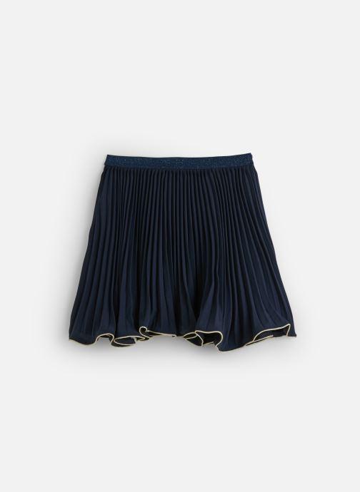 Vêtements Lili Gaufrette Jupe Cérémonie Marine à volant asymétrique Bleu vue bas / vue portée sac