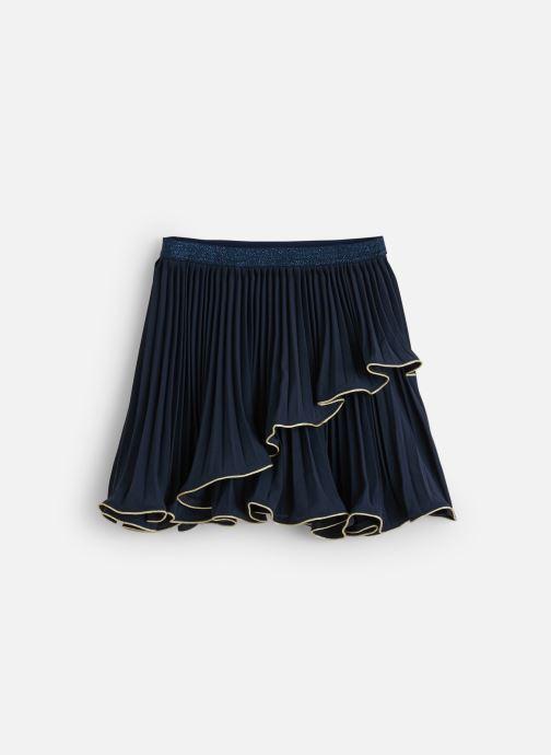 Vêtements Lili Gaufrette Jupe Cérémonie Marine à volant asymétrique Bleu vue détail/paire