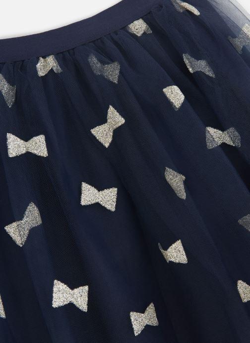 Vêtements Lili Gaufrette Jupe Plisée en tulle noir et noeufs à paillettes Bleu vue portées chaussures