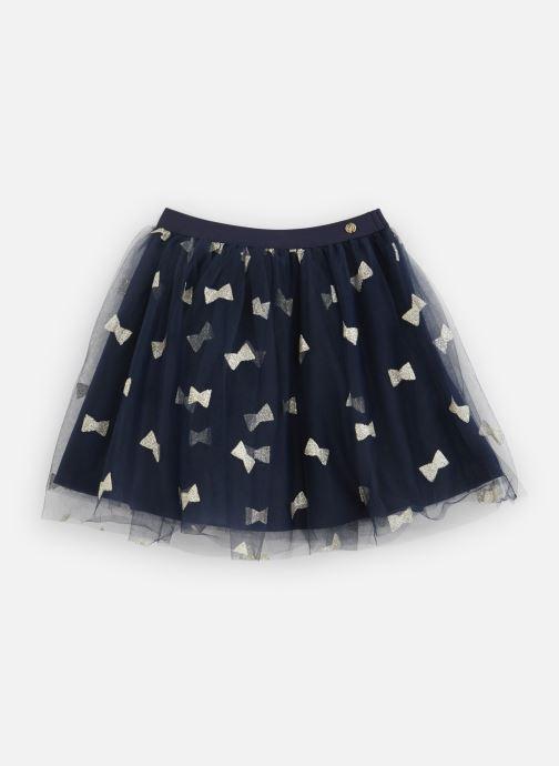 Kleding Lili Gaufrette Jupe Plisée en tulle noir et noeufs à paillettes Blauw detail