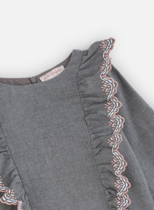Vêtements Lili Gaufrette Robe en flanelle girs anthracite Gris vue portées chaussures