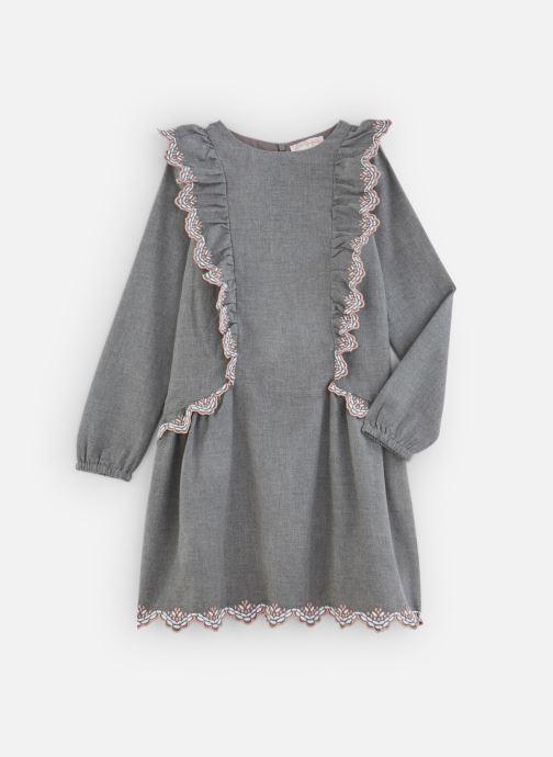 Vêtements Lili Gaufrette Robe en flanelle girs anthracite Gris vue détail/paire