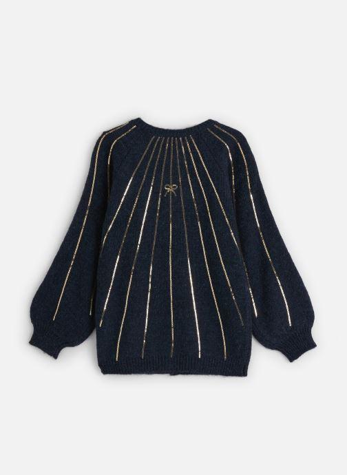 Vêtements Lili Gaufrette Gilet Tricot Bleu Marine à sequins dorés Bleu vue bas / vue portée sac