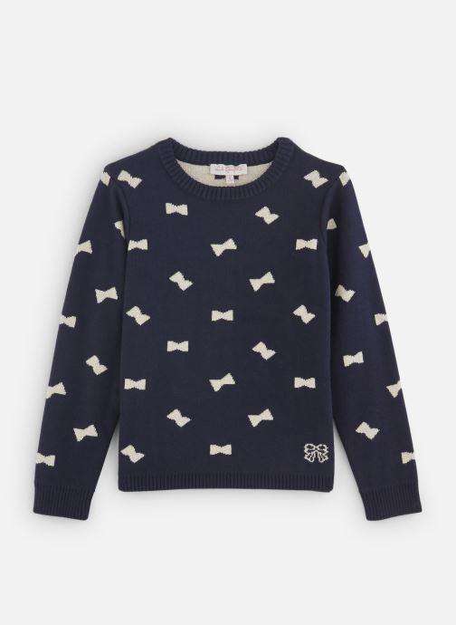 Vêtements Lili Gaufrette Pull Tricot Jacquard Réversible Bleu vue détail/paire