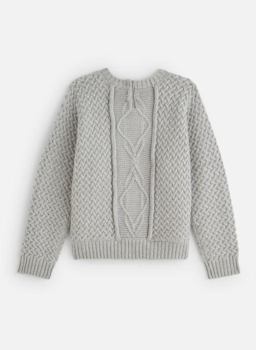 Vêtements Lili Gaufrette Pull Tricot à manches chauve-souris gris Gris vue bas / vue portée sac