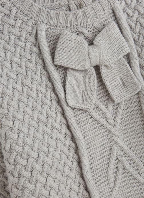 Vêtements Lili Gaufrette Pull Tricot à manches chauve-souris gris Gris vue portées chaussures