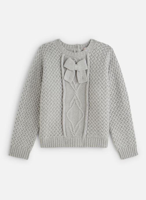 Kleding Lili Gaufrette Pull Tricot à manches chauve-souris gris Grijs detail