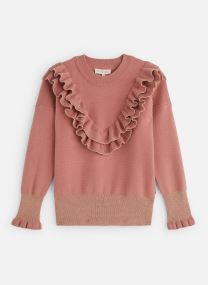 Pull Col volants Vieux Rose