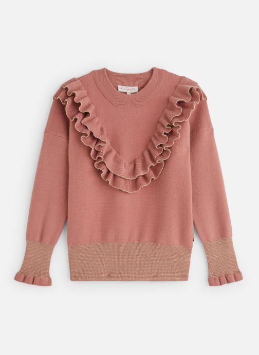 Vêtements Lili Gaufrette Pull Col volants Vieux Rose Rose vue détail/paire