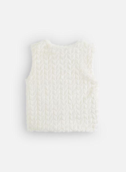 Vêtements Lili Gaufrette Gilet GP17002 Blanc vue bas / vue portée sac