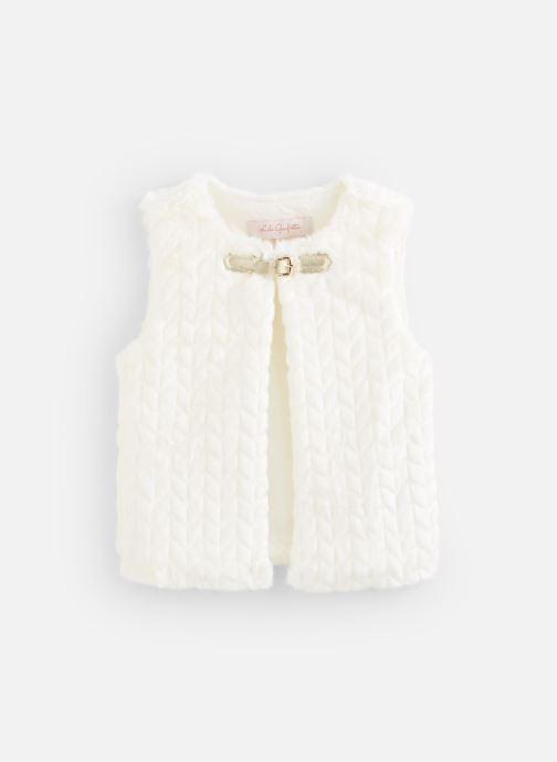 Vêtements Lili Gaufrette Gilet GP17002 Blanc vue détail/paire