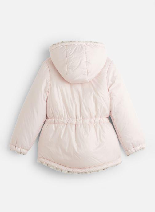 Vêtements Lili Gaufrette Blouson à capuche réversible Rose vue bas / vue portée sac