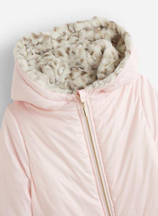 Vêtements Lili Gaufrette Blouson à capuche réversible Rose vue portées chaussures