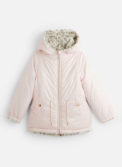 Vêtements Lili Gaufrette Blouson à capuche réversible Rose vue détail/paire