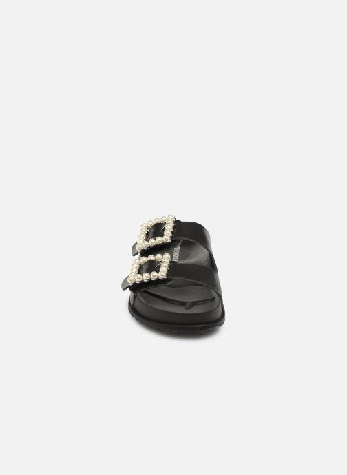 Mules et sabots Steve Madden Nora Flat Sandal Noir vue portées chaussures