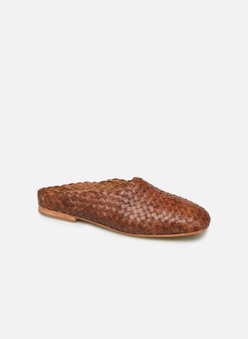 Clogs og træsko ST.AGNI Agnes Brun detaljeret billede af skoene
