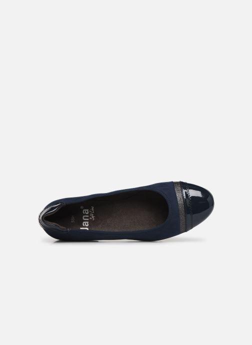 Ballerines Jana shoes MENA NEW Bleu vue gauche