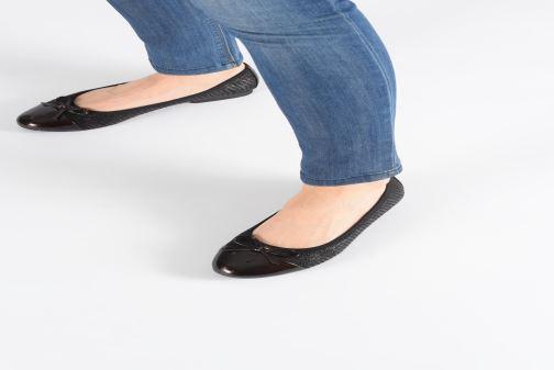 Ballerines Jana shoes PANAMA NEW Noir vue bas / vue portée sac