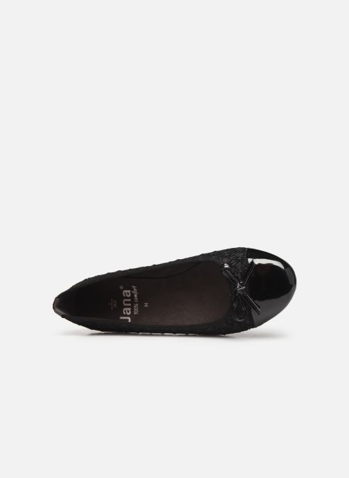 Ballet pumps Jana shoes PANAMA NEW Black view from the left