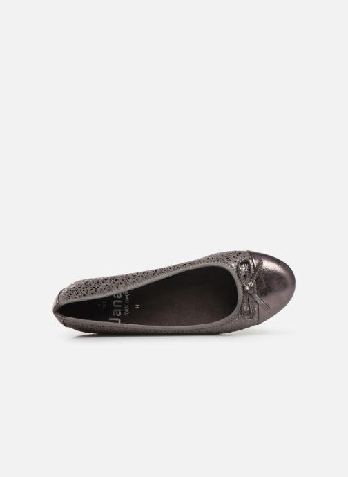 Ballerines Jana shoes PANAMA NEW Argent vue gauche