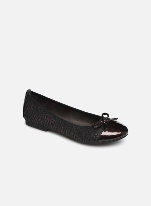 Ballerina's Jana shoes PANAMA NEW Bordeaux detail