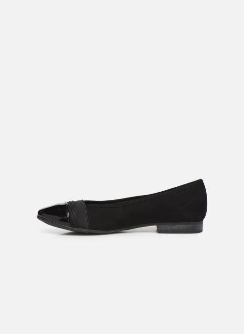 Ballet pumps Jana shoes CAMILLE NEW Black front view