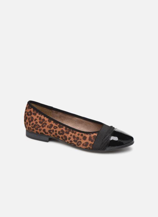 Ballerines Jana shoes CAMILLE NEW Marron vue détail/paire