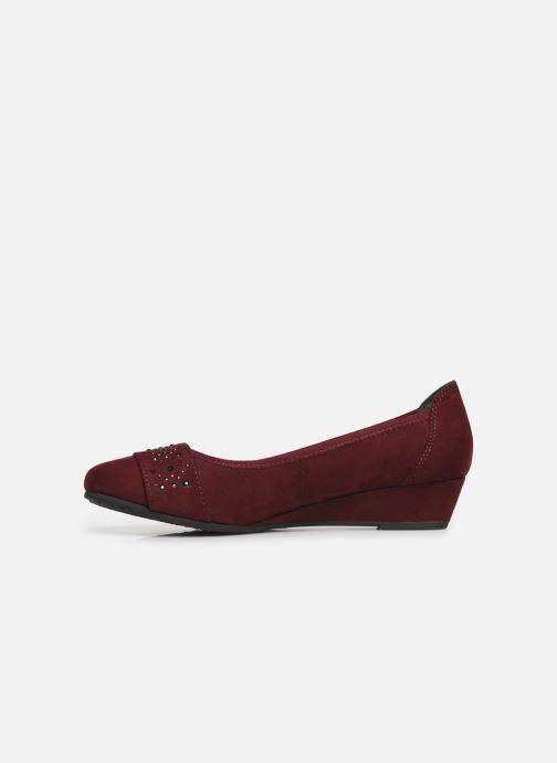 Ballerines Jana shoes PALI NEW Bordeaux vue face