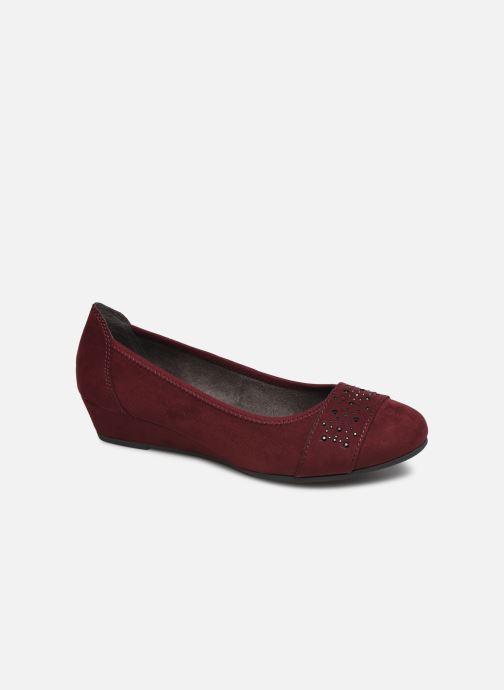 Ballerines Jana shoes PALI NEW Bordeaux vue détail/paire
