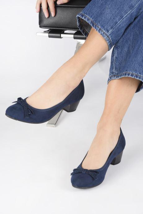 Escarpins Jana shoes SOSOBE NEW Bleu vue bas / vue portée sac