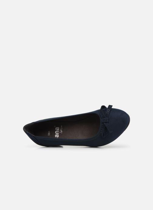 Escarpins Jana shoes SOSOBE NEW Bleu vue gauche