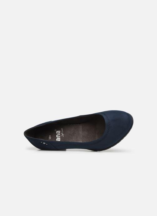 Escarpins Jana shoes JIVEO NEW Bleu vue gauche