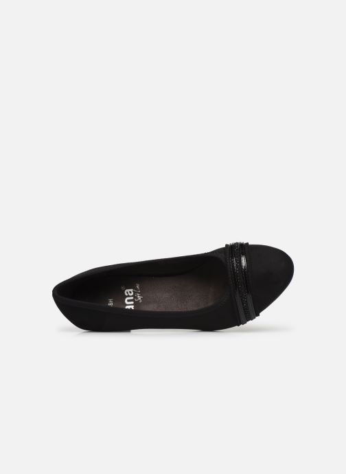 Zapatos de tacón Jana shoes MAYA NEW Negro vista lateral izquierda