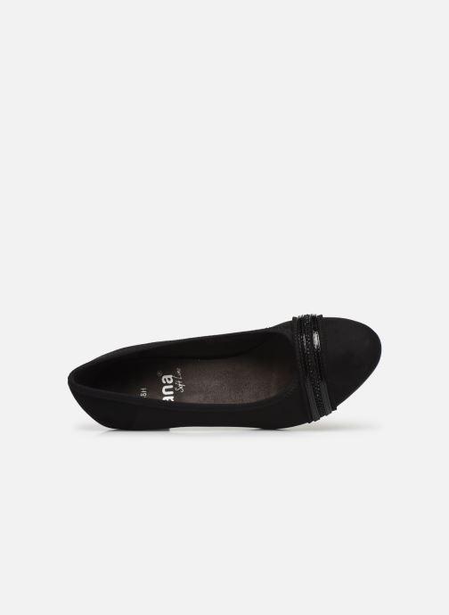 Pumps Jana shoes MAYA NEW schwarz ansicht von links