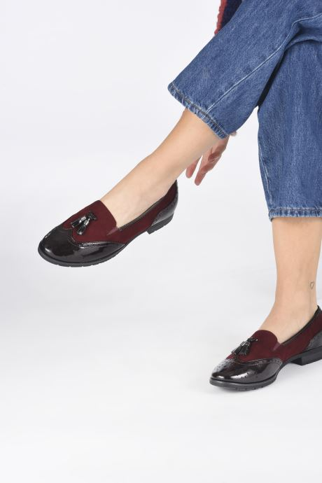 Mocassins Jana shoes MOUNIA NEW Bordeaux vue bas / vue portée sac