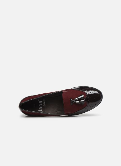 Mocassins Jana shoes MOUNIA NEW Bordeaux vue gauche