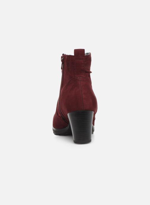 Botines  Jana shoes FUTURO NEW Vino vista lateral derecha
