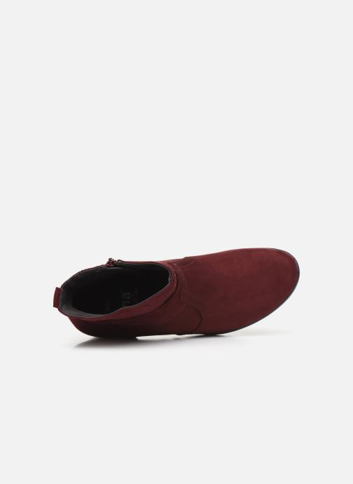 Botines  Jana shoes FUTURO NEW Vino vista lateral izquierda