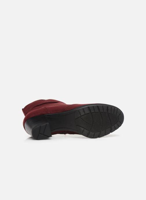 Botines  Jana shoes FUTURO NEW Vino vista de arriba