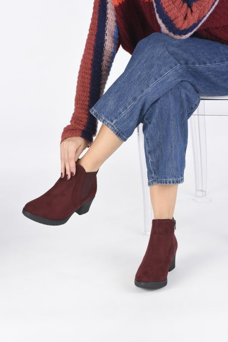 Ankle boots Jana shoes GAVIN NEW Burgundy view from underneath / model view