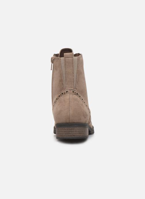 Bottines et boots Jana shoes IVY Beige vue droite