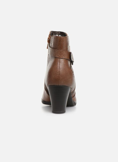 Ankle boots Jana shoes DOUGLAS NEW Brown view from the right