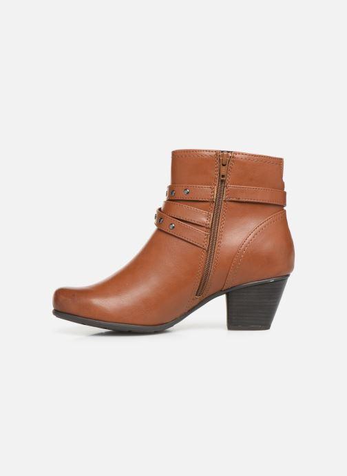 Boots en enkellaarsjes Jana shoes ELSA Bruin voorkant
