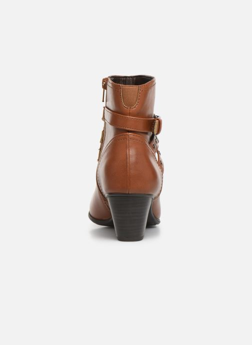 Botines  Jana shoes ELSA Marrón vista lateral derecha