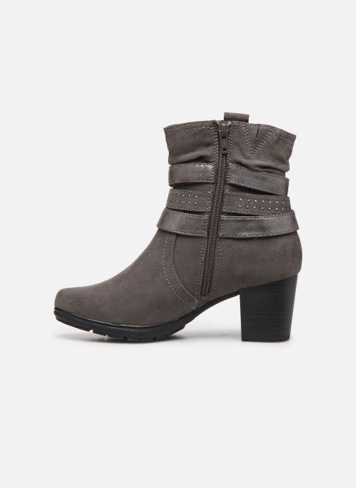Boots en enkellaarsjes Jana shoes ILDA NEW Grijs voorkant