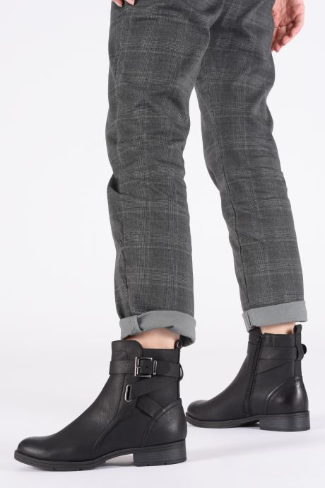 Ankle boots Jana shoes NELSON Black view from underneath / model view