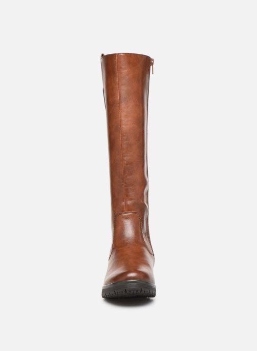 Bottes Jana shoes OCE Marron vue portées chaussures