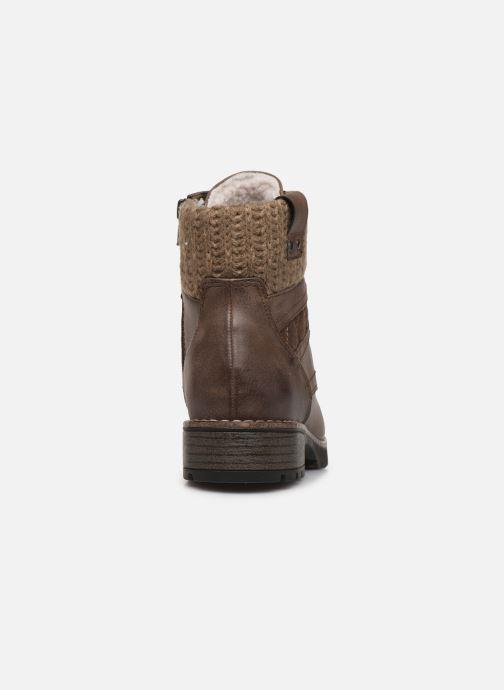 Botines  Jana shoes RAMI NEW Marrón vista lateral derecha